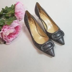 Kate Spade  Simon Snake  Polka Dot Heels Size 7